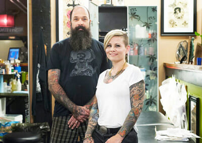 Jeff and April Cornell Tattoo Artists