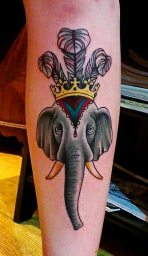 Elephant Tattoo by British Tattoo Artist Nick Whybrow