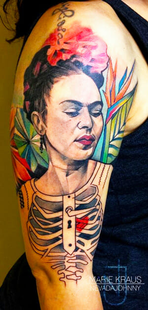 Frida Kahlo Tattoo by Marie Kraus