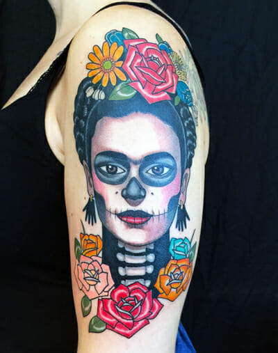 Frida Tattoo by British Artist Inma