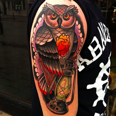 Owl Tattoo by Mike Stockings