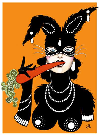 Rabbit Thief by Artist Inma