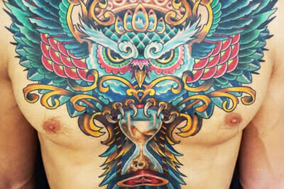 Tattoo Chest Piece by Sierra Colt